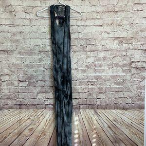 Young Fabulous Broke XS Gray Tye Dye Maxi Dress
